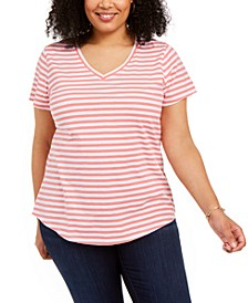 Plus Size Cotton Tee, Created For Macy's