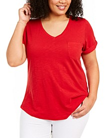 Plus Size V-Neck T-Shirt, Created for Macy's