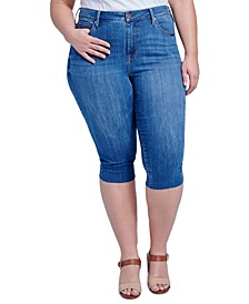 Trendy Plus Size The Breezy Slim Crop Jeans