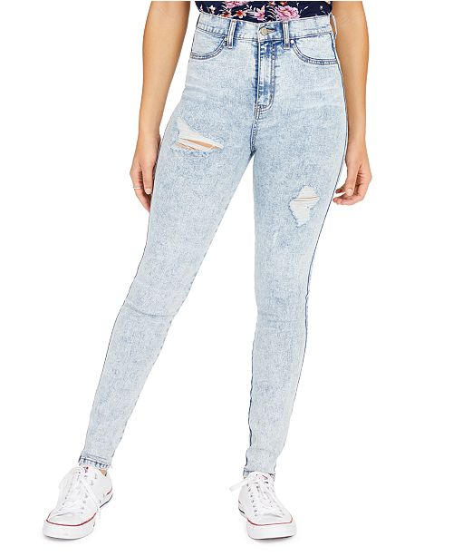 Celebrity Pink Juniors' Ripped High Rise Skinny Jeans