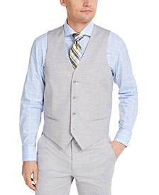 Men's Classic-Fit Stretch Solid Suit Vest, Created for Macy's