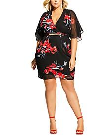 Trendy Plus Size Iris Wrap Dress