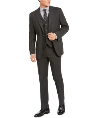 Men's Classic-Fit Stretch Solid Suit Pants, Created for Macy's