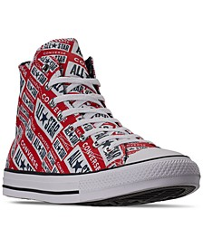 Men's Chuck Taylor All Star Logo Graphic High Top Casual Sneakers from Finish Line
