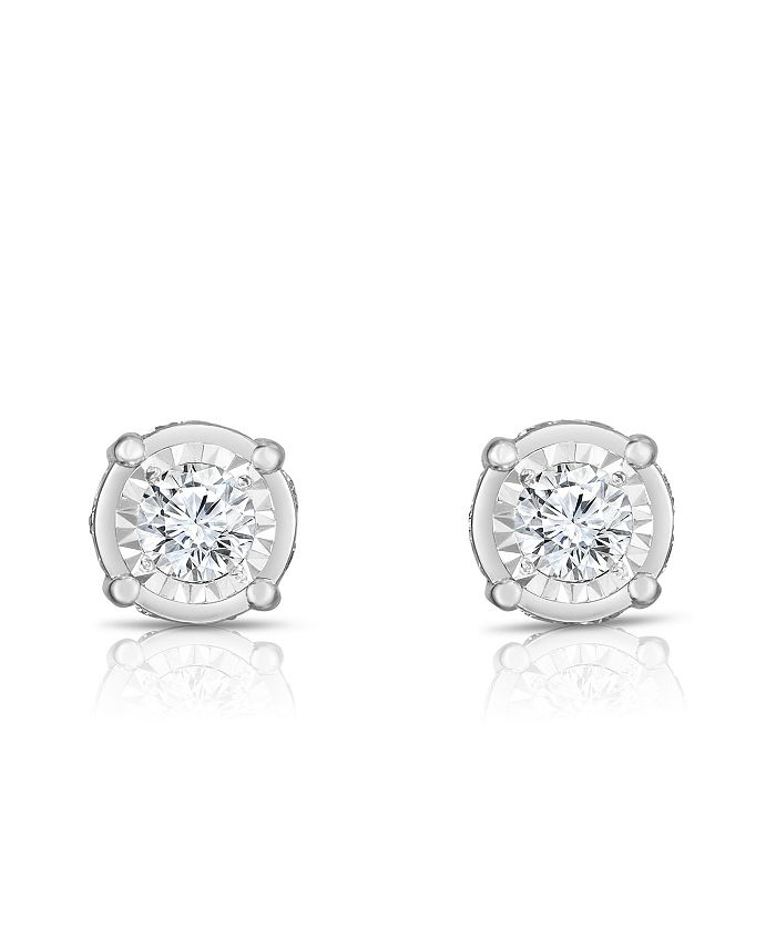 TruMiracle - TRUMIRACLE® Diamond (1 1/4 ct. t.w.) Stud Earrings in 14k White Gold