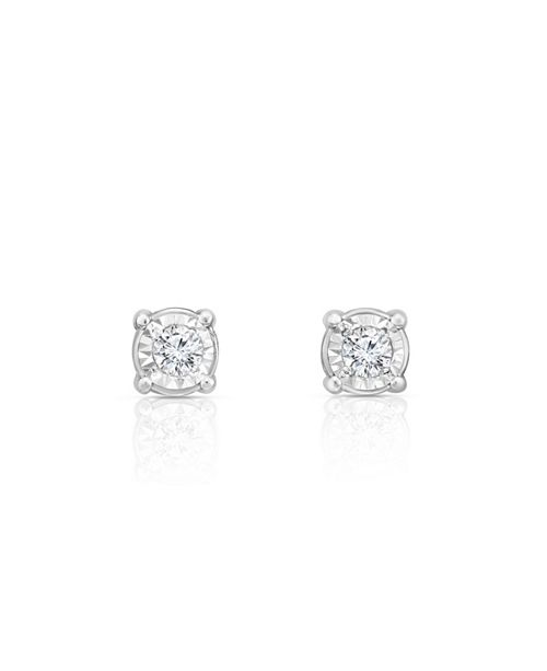 TruMiracle Diamond (3/8 ct. t.w.) Stud Earrings in 14k White Gold