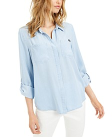 Split-Back Chambray Shirt