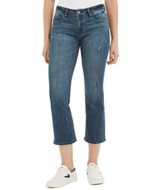 Cropped Kick-Flare Jeans