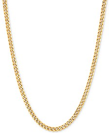 "Miami Cuban Link 24"" Chain Necklace in 14k Gold"