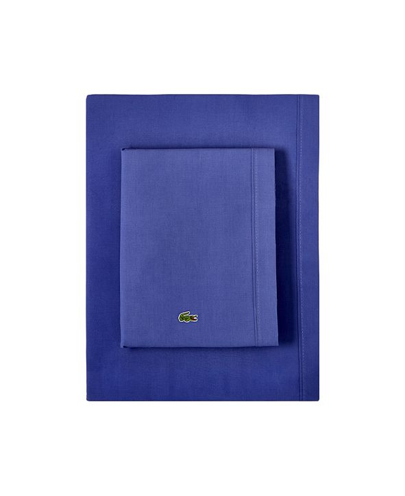 Lacoste Home Lacoste Percale Twin Solid Sheet Set