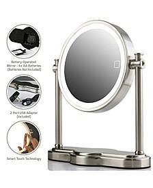 LED Lighted Makeup Mirror, Tabletop Vanity Mirror