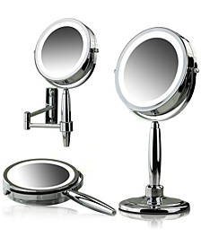Lighted 3-in-1 Makeup Mirror Tabletop