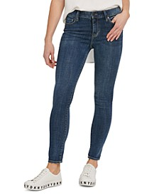 Mid-Rise Skinny-Fit Ankle Jeans