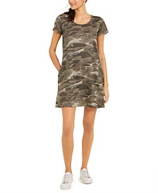 Cotton Camo-Print T-Shirt Dress, Created For Macy's