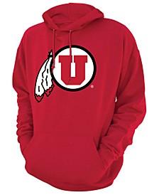 Men's Utah Utes Screenprint Big Logo Hooded Sweatshirt