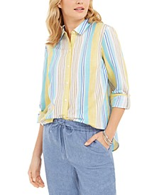 Beach Stripe Linen-Blend Shirt, Created for Macy's