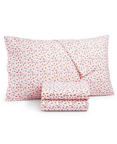 Martha Stewart Collection CLOSEOUT! 200-Thread Count 4-Pc. Full Sheet Set, Created for Macy's
