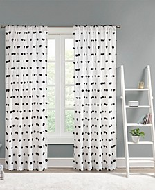 """Sophie 50"""" x 63"""" Pom Pom Embellished Curtain Panel"""
