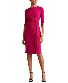 Petite Twisted-Knot Jersey Dress