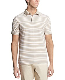 Men's Pique Stripe Polo Shirt