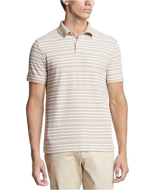 DKNY Men's Pique Stripe Polo Shirt