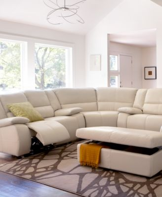 Franco Leather Sectional Living Room Furniture Collection, Power