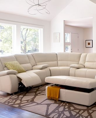 Franco Leather Sectional Living Room Furniture Collection Power Reclining