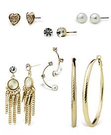 Stud, Hoop, and Mini Statement Earring Sets