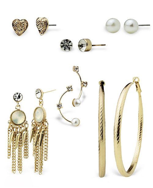 True Love Accessories Stud, Hoop, and Mini Statement Earring Sets