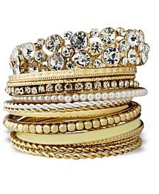 14 Piece Metal Glass Bracelet Set
