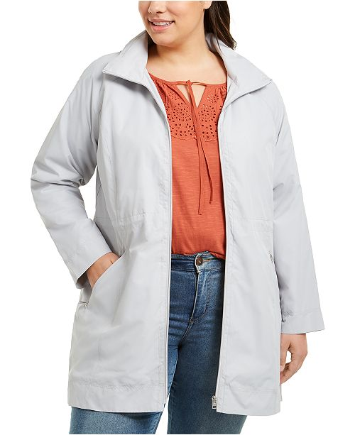 Style & Co Plus Size Hooded Packable Anorak Jacket, Created for Macy's