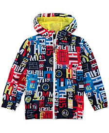 Little Boys Naval Logo-Print Ripstop Hooded Jacket