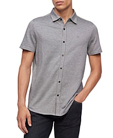 Men's Birdseye Button-Down Short Sleeve Shirt