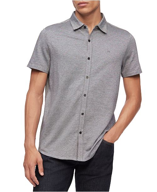 Calvin Klein Men's Birdseye Liquid Touch Shirt