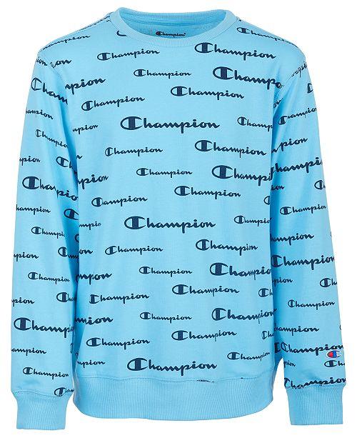 Champion Big Boys Script Logo French Terry Sweatshirt