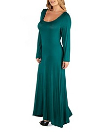 Long Sleeve T-Shirt Plus Size Maxi Dress