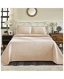 Basket Weave Jacquard Matelasse 2 Piece Bedspread Set, Twin