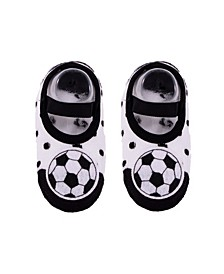 Baby Boys and Girls Anti-Slip Cotton Socks with Soccer Applique