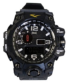 Mens Black Rubber Strap Digital Sports Watch 51mm