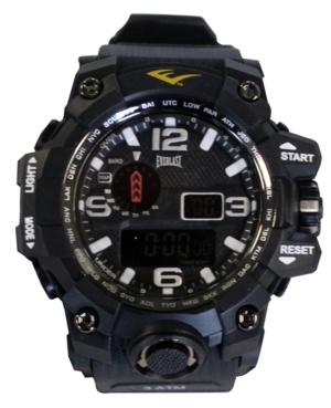 Everlast Mens Black Rubber Strap Digital Sports Watch 51mm