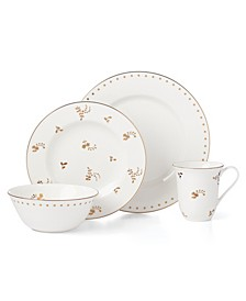 Dinnerware, Opal Innocence Carved Flourish 4 Piece Place Setting