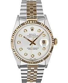Men's Swiss Automatic Two-Tone Datejust Jubilee 18K Yellow Gold & Stainless Steel Bracelet Watch, 36mm