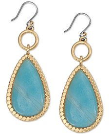 Gold-Tone Stone Drop Earrings