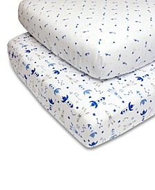 PS by Blue Rockets and Stars Crib Sheet 2-Pack