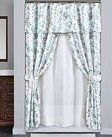 Weeping Flora 16Pc Shower Curtain Set