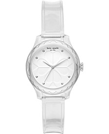 Women's Rosebank Clear Polyurethane Strap Watch 32mm