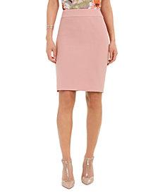 Nine West Textured Crepe Pencil Skirt