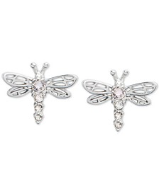 Crystal Dragonfly Stud Earrings