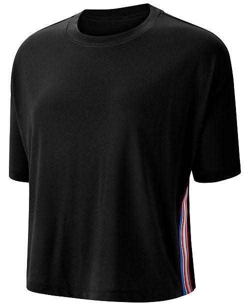 Nike Pro Dri-FIT Stripe Cropped Training T-Shirt