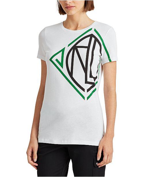 Lauren Ralph Lauren Petite Bold Logo Graphic T-Shirt